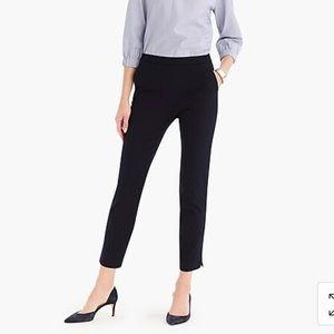 J crew Martie slim crop pant with side zip size 4